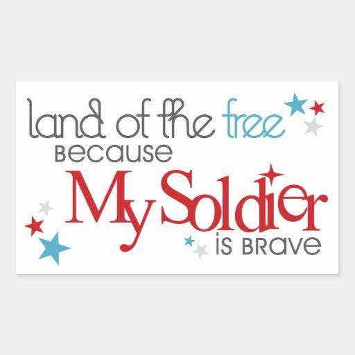 Land of the Free... Rectangular Sticker