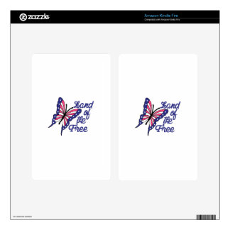 Land Of The Free Decal For Kindle Fire