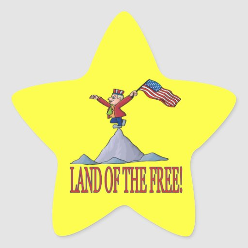 Land Of The Free Star Sticker