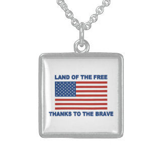 Land Of The Free Thanks To The Brave Necklace