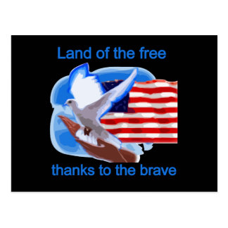 Land of the Free Tshirts and Gifts Postcard