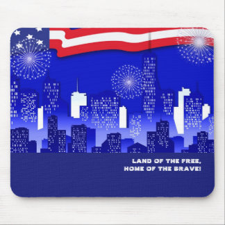 Land of the Free .USA Patriotic Gift Mousepad