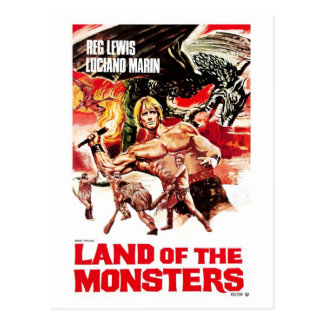 Land of the Monsters Postcard
