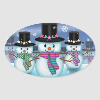 Land of the Snowmen Christmas Stickers