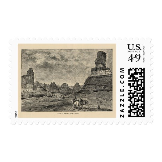 Land of the Standing Rocks view Postage