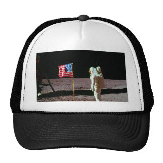 Land on moon and success mesh hats