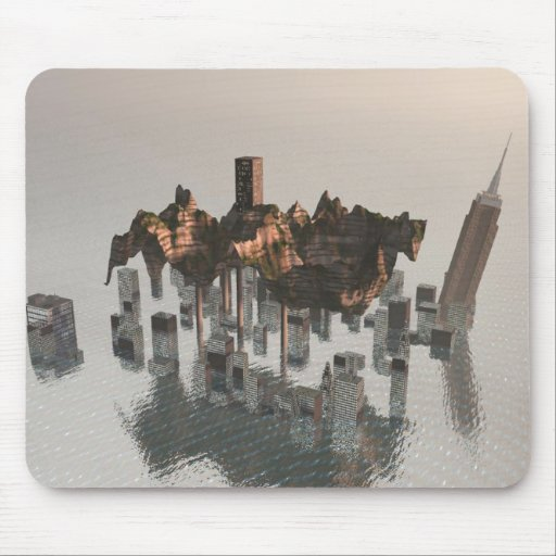 Land Over Water Surreal Mousepad