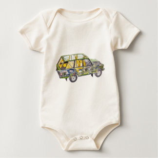 Land Range Rover Car Classic Vintage Hiking Duck Baby Bodysuit