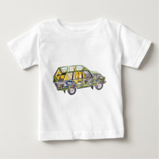 Land Range Rover Car Classic Vintage Hiking Duck Baby T-Shirt
