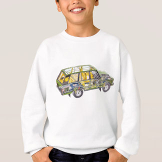 Land Range Rover Car Classic Vintage Hiking Duck Sweatshirt