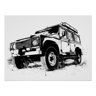 Land Rover 110 Print