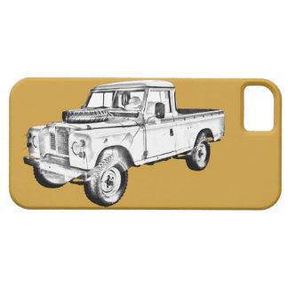 Land Rover 1971 coge el ejemplo del camión iPhone 5 Cobertura