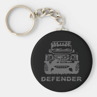 Land Rover Defender Classic Vintage Hiking Duck Basic Round Button Keychain