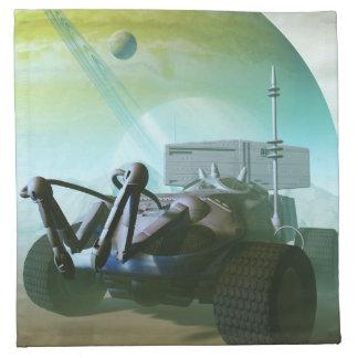 Land rover robótica servilletas de papel