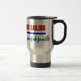 Land sailing It's a piece of cake for me 15 Oz Stainless Steel Travel Mug