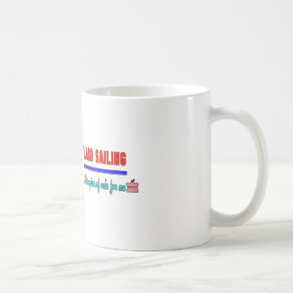 Land sailing It's a piece of cake for me Classic White Coffee Mug