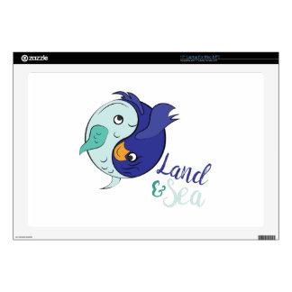 """Land & Sea 17"""" Laptop Skins"""