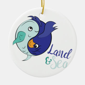 Land & Sea Ceramic Ornament