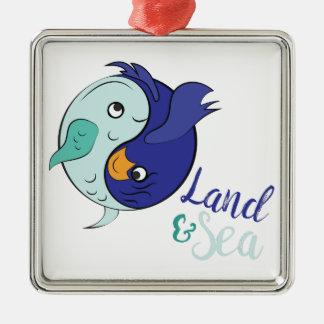 Land & Sea Metal Ornament