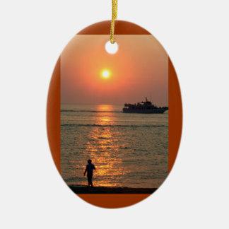 Land Sea Ornament