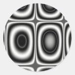 Land Seven - Fractal Round Stickers