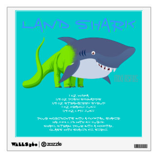 Land Shark Drink Recipe Wall Sticker