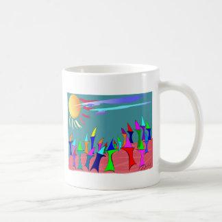 Land Sharks Family Reunion~~Whimsical Art Coffee Mug
