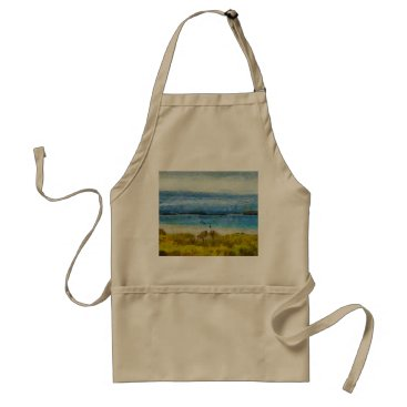 Beach Themed Land strip in water adult apron