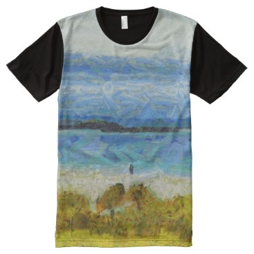 Land strip in water All-Over-Print T-Shirt