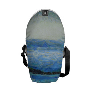 Land strip in water courier bag