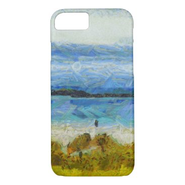 Beach Themed Land strip in water iPhone 7 case