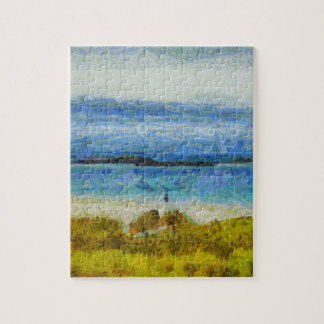 Land strip in water jigsaw puzzle