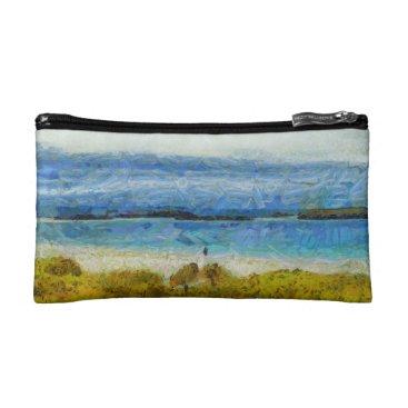 Land strip in water makeup bag