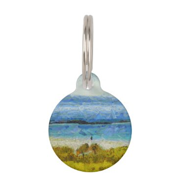 Land strip in water pet ID tag