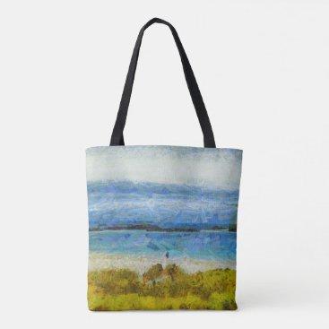 Land strip in water tote bag