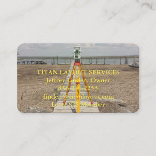 Land business cards zazzle land surveyor at the shore business card reheart Image collections