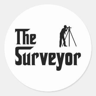 Land Surveyor Classic Round Sticker