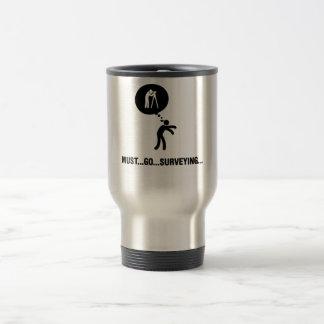 Land Surveyor 15 Oz Stainless Steel Travel Mug