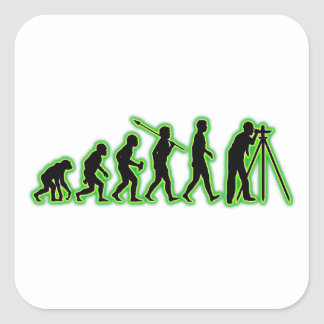Land Surveyor Square Sticker