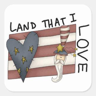 Land That I Love Square Sticker
