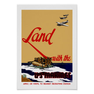 Land With The Marines Poster