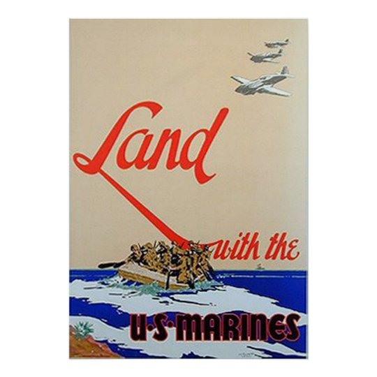 Land With The U.S. Marines Poster