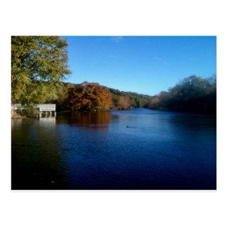 Landa Park Lake Postcard
