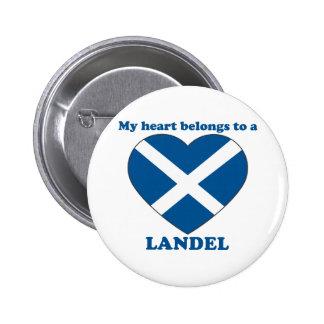 Landel Pinback Button