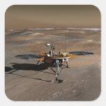Lander 2 de Phoenix Marte Pegatina Cuadrada