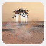 Lander de Phoenix Marte Pegatina Cuadradas