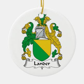 Lander Family Crest Christmas Ornaments