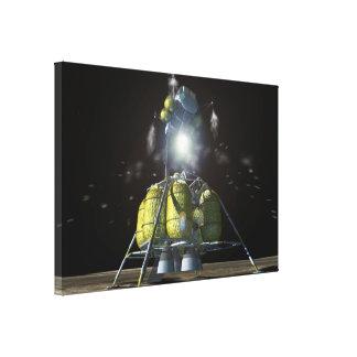 Lander lunar - representación del artista impresion en lona