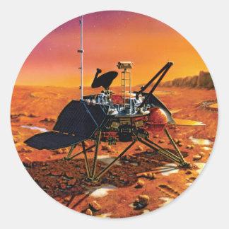 Lander polar de Marte Pegatinas Redondas