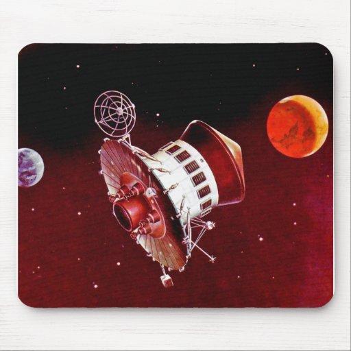 Lander retro 1967 de Sci Fi Marte del vintage Alfombrilla De Ratones